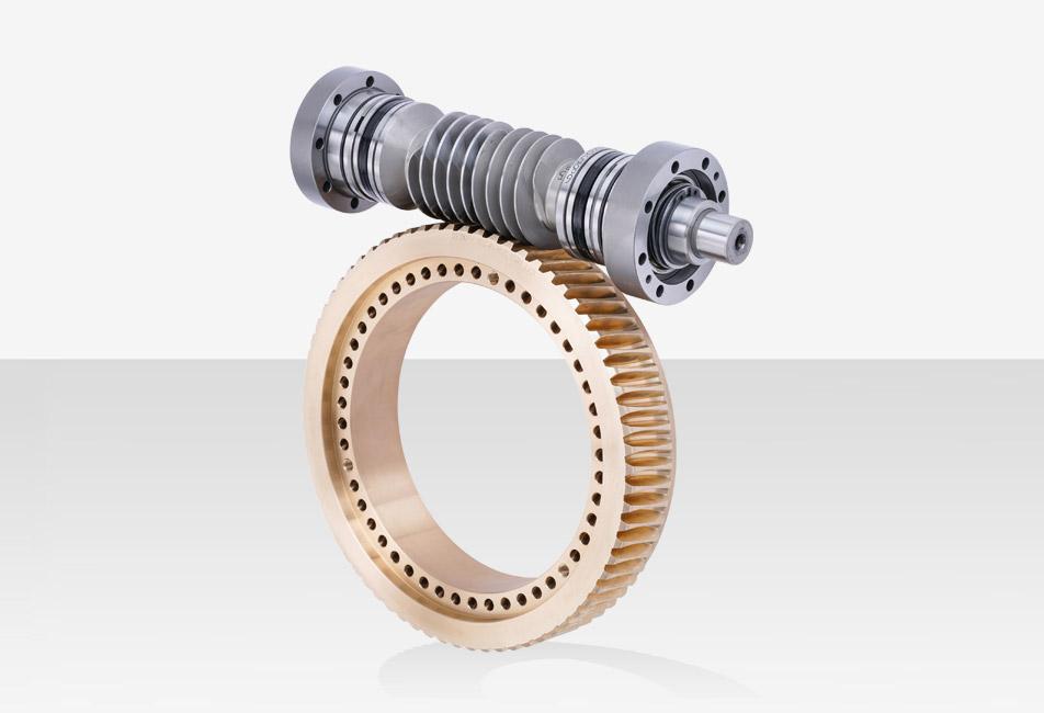 Zahnradfertigung OTT | Schneckenradsatz OTT-Schraubgetriebe