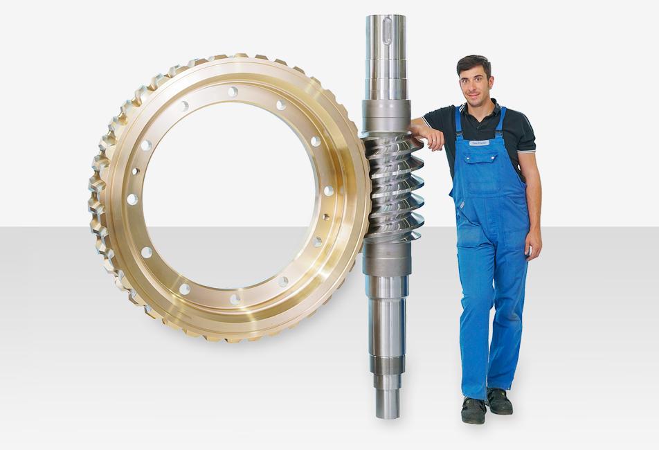 Zahnradfertigung OTT | Schneckenwelle OTT-Schraubgetriebe